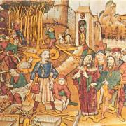 Szene aus dem Mittelalter