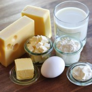 Verschiedene Milchprodukte